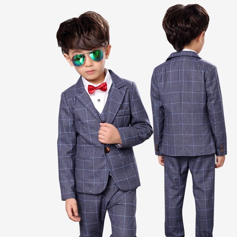 Marke Kinder Anzug Baby Jungen Schulanzüge Kinder Blazer Formelle - Kinderkleidung - Foto 3