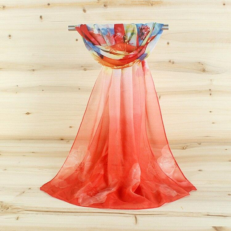 Una bufanda de seda de chifón flor bufandas B Twofour