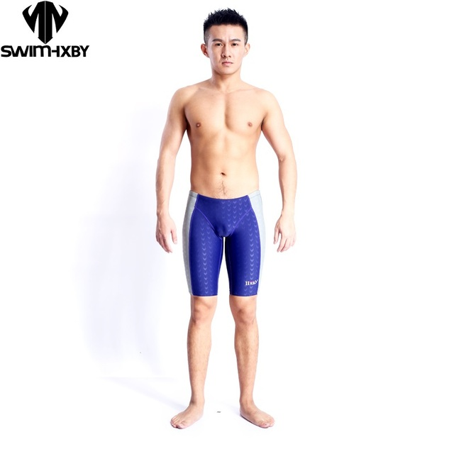 da0a940a2c HXBY Boys racing swimwear shark skin competitive swimsuits mens swim trunks  men swimsuit competition trainning swimming suit