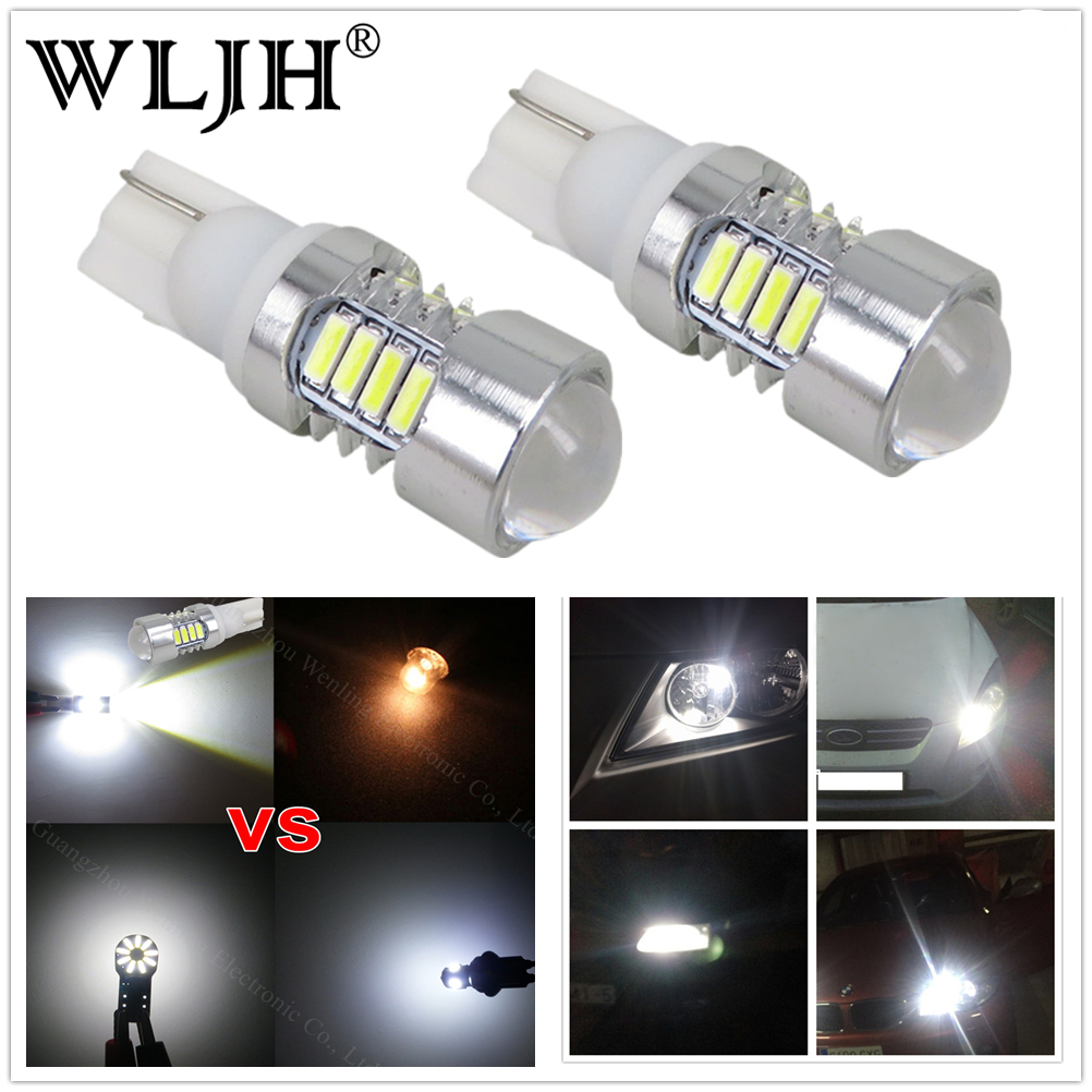 WLJH 2x W5W Auto LED T10 Car light 2825 168 194 Bulb Map LED Step Courtesy Trunk DomeLamp Bulb for Audi A4 A5 A6 A7 A8 Q3 Q5 Q7