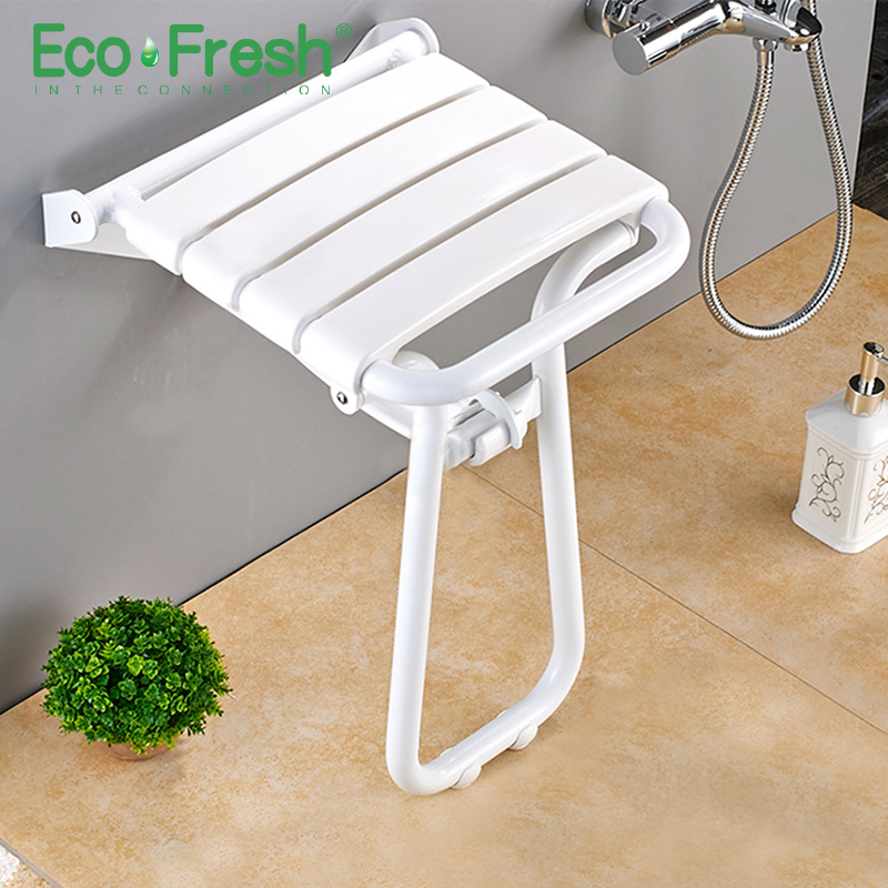 Intellective Wall Mounted Shower Seat Shower Folding Seat For Elderly Toilet Bath Stool Bathroom Bench Cadeira For Seniors And Elders Careful Calculation And Strict Budgeting Bathroom Fixtures