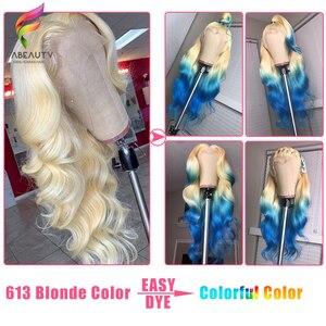 Image 4 - Glueless #613 Blonde Spitze Front Menschliches Haar Perücken Brasilianische Körper Welle 13*4 Spitze Vorne Perücke Pre Gezupft honig Blonde Remy Spitze Perücken