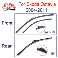 Front Rear Wiper Blades For Skoda Octavia 1994 2001 Windscreen Windshield Natural Rubber Car Accessories