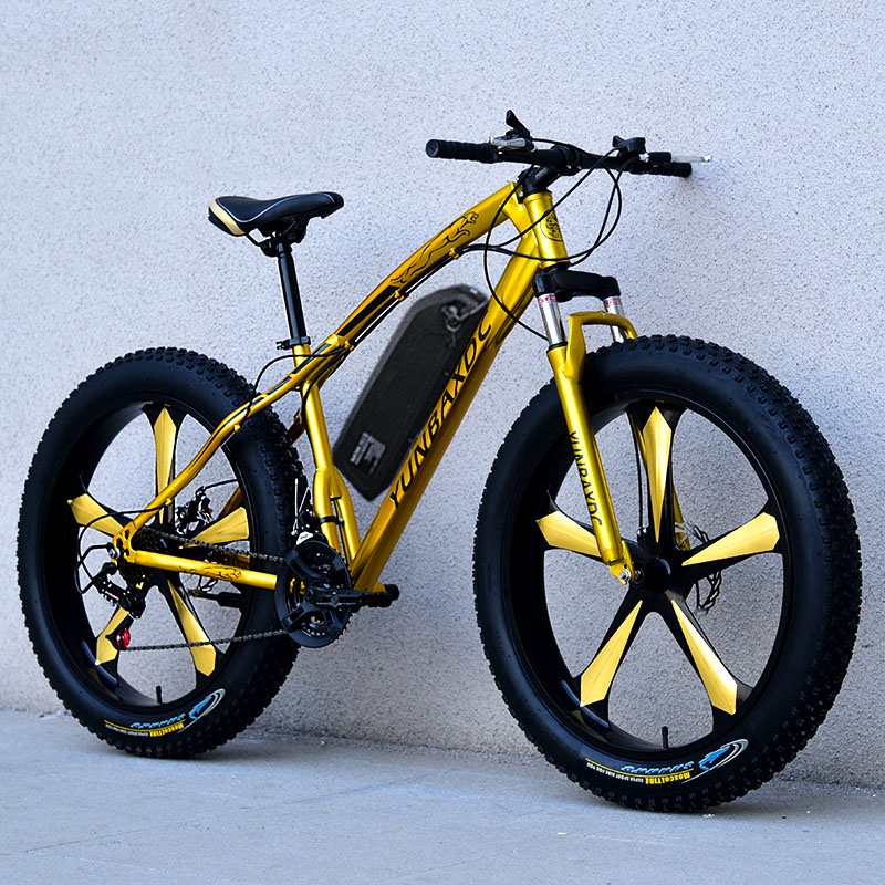 26inch snow electric mountain bicycle 48V lithium battery 1000w motor fat ebike 4.0 tires  high speed brushless electric bike 4