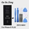 100% da marca original xiong 2915 mah genuine li-ion para celular substituição da bateria pack para iphone 6 plus