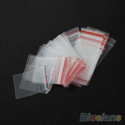 100PCS 4x6cm Small Zip Lock Plastic Bags Transparent Jewelry Ziplock Zip Zipped Lock Reclosable Plastic Poly Clear Bags