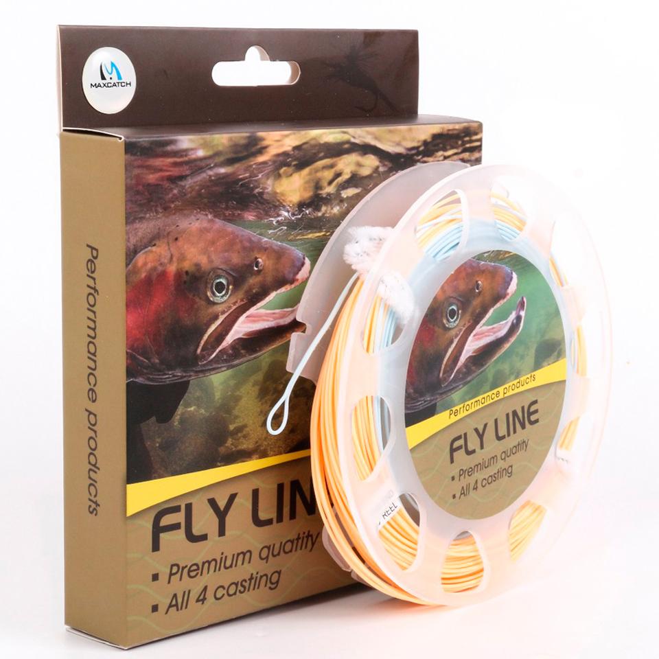 Prix pour Maximumcatch Fly Ligne De Pêche 100FT 3-8WT Peser Avant Flottant Fly Ligne Avec Deux Boucles Soudées