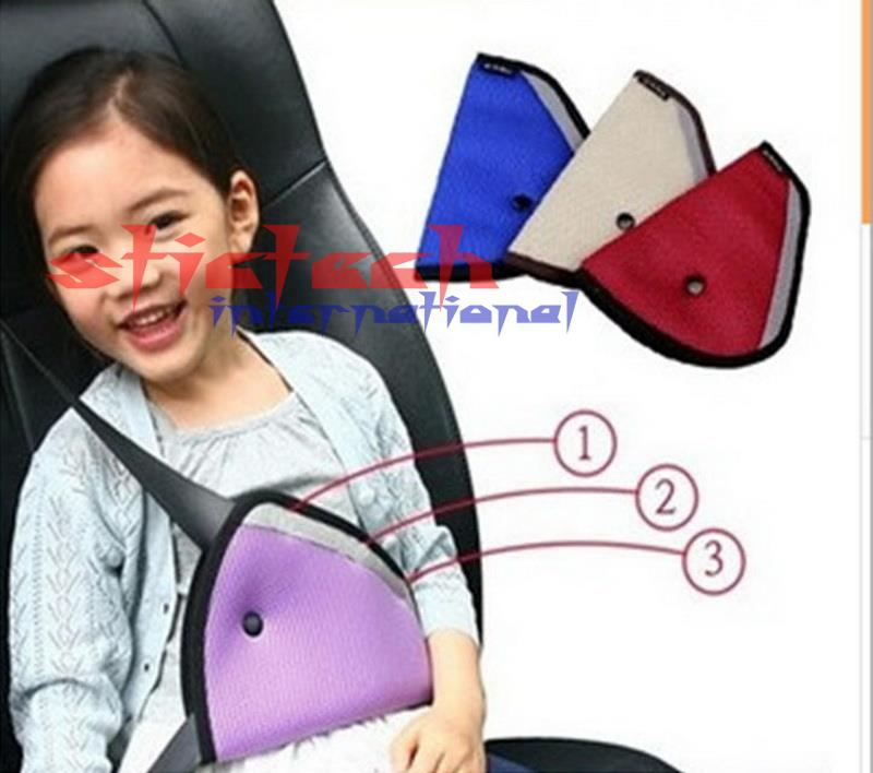 by dhl or ems 200 pieces Triangle Baby Car Safety Seat Belts Adjuster Clip Accessories Child