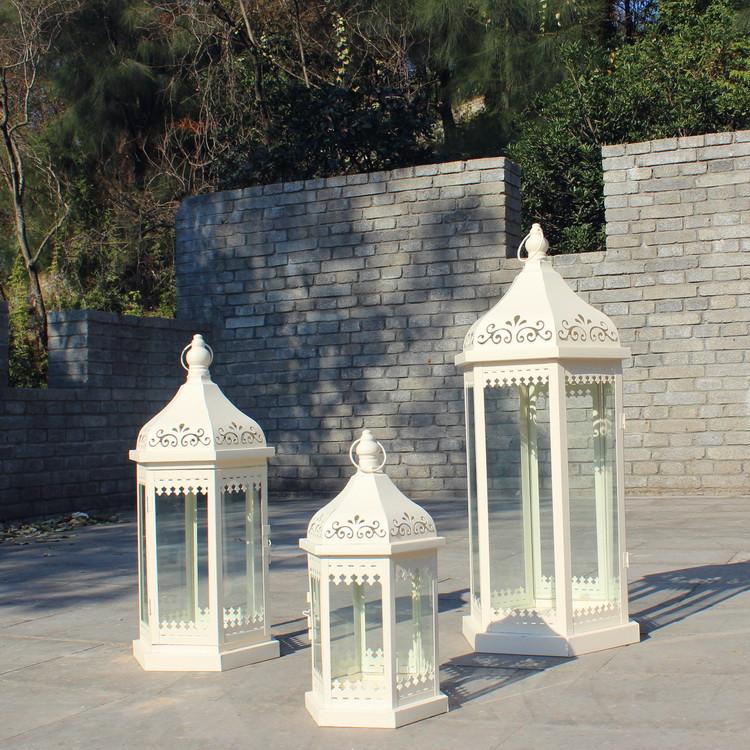 continental hierro candelabro farol de cristal grande retro decoracin del hogar titular de la vela de