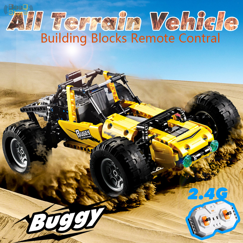CaDA Bausteine RC Autos Alle Gelände Fahrzeug High Simulation Buggy Modell 2,4G Drahtlose Fernbedienung Block auto Spielzeug-in Sperren aus Spielzeug und Hobbys bei  Gruppe 1