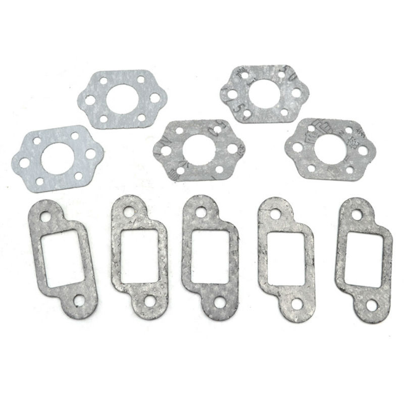 5Sets Chainsaw Muffler Exhaust Plate and Carburetor Gasket fit Stihl 170 180 MS170 MS180 Engine Aftermarket Parts