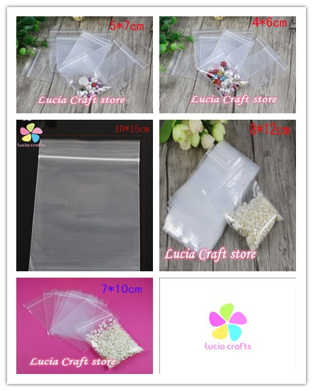 Lucia crafts Multi Sizes Option DIY Transparent Bags Storage Bag Zip lock Reclosable PP Plastic Poly 19010022 1