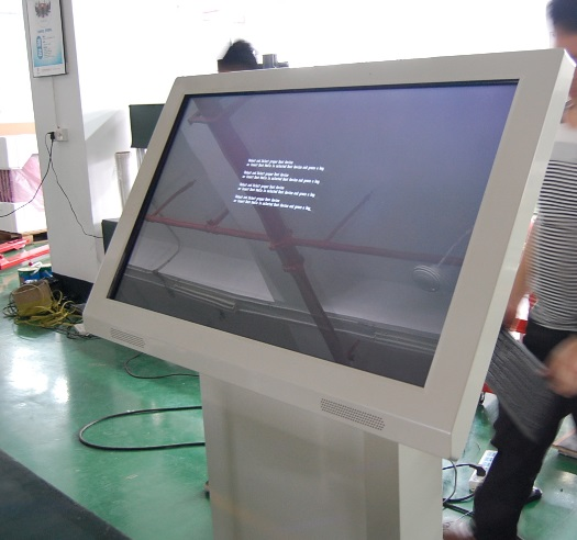 Custom 55inch 46inch 42 Inch Standing Android  All In One Lcd Touch Screen Kiosk Wifi Advertising Display Totem Signage