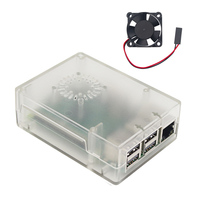 New Arrival Raspberry Pi 3 Model B+ ABS Case Transparent White Black Plastic Box + Cooling Fan for Raspberry Pi 3 Raspberry Pi 2