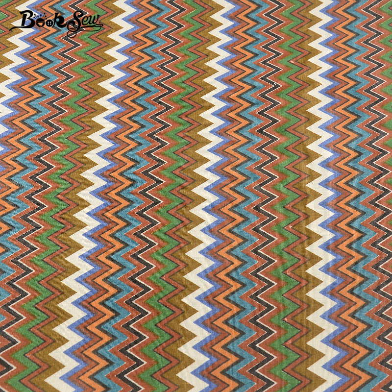 Bolso de la almohadilla mantel cojín cortina zakka tissu booksew ondulado línea