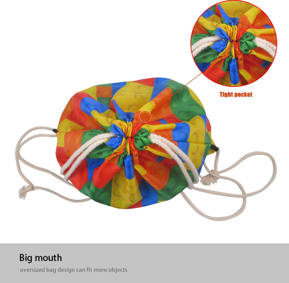 FORUDESIGNS Kids Drawstring Bag Giraffe Printing Women Storage Drawstring Backpack Cute Animal Travel Beach Shoulder Backbags