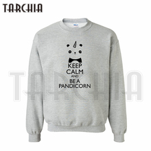 TARCHIA European Style fashion free shipping hoodies keep calm and be a pandicorn sweatshirt personalized man