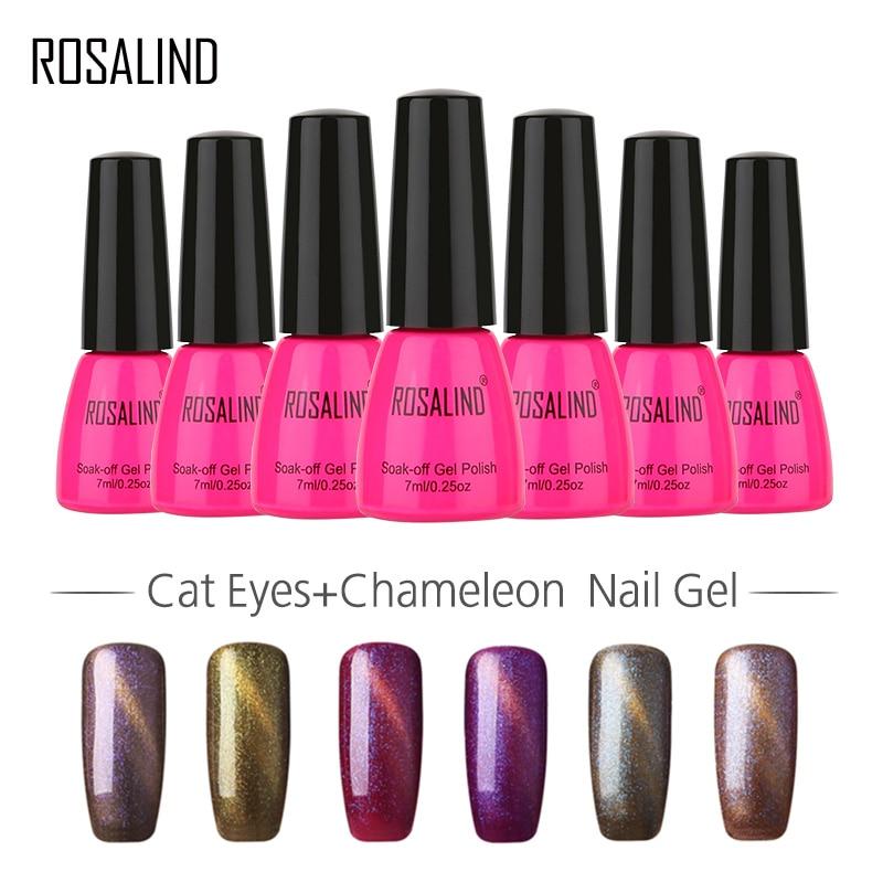 Rosalind Rose Bottle 7ml Cat Eyes+chameleon Magnet A01-12 Gel Nail Polish Nail Art Nail Gel Polish Thermo Uv Led Soak-off Bling Fine Craftsmanship Nail Gel