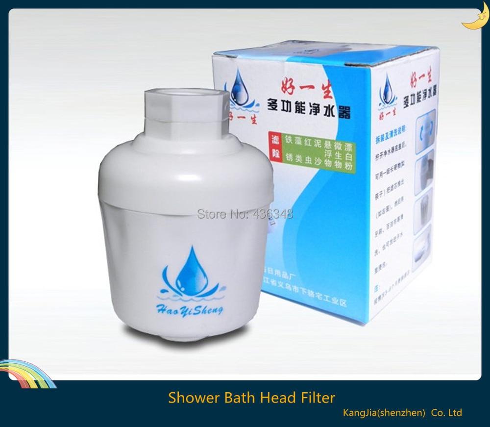 hot new 1 pcs bathroom inline shower bath head filter water softener remove chlorine