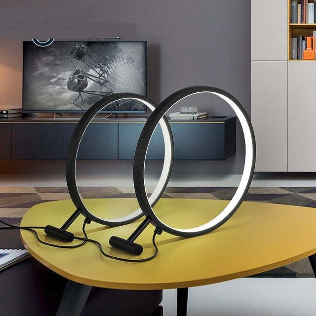 office desk lighting. The Office Desk Lamp Magnifier Iron Ring Table Lamps Bed Bedroom Study Circular LED Lighting