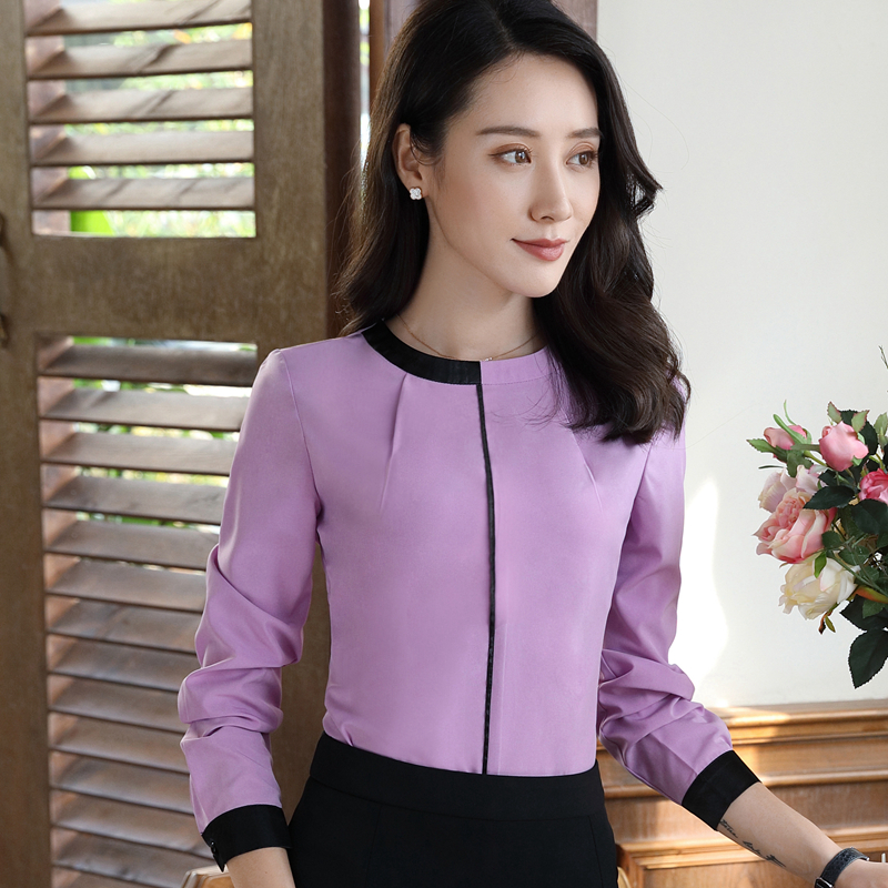 Fashion Clothes womens tops and blouses New Autumn Elegant Blusas Mujer Formal Slim Long Sleeve Blouse Office Ladies Work Tops