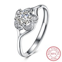 S925 Sterling Silver Ring 2018 New Wedding Rings For Women Crystal Anel Engagement Ring 925 Silver