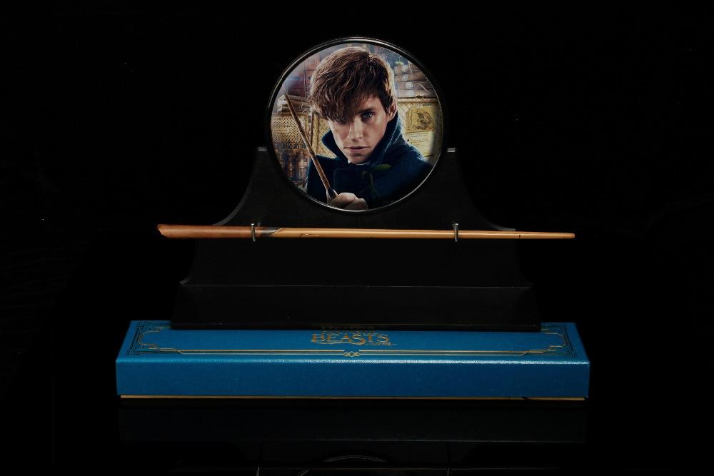 Newest Metal Core HP Magic Wand Scamander Magic Fantastic Beasts Graves Newt Gift Box Packing Free Train Ticket
