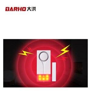 Image 4 - Darho 2PCS  433MHz Door Window Entry Security Burglar Sensor Alarm PIR Door Magnetic Wireless Alarm System Security Wholesell