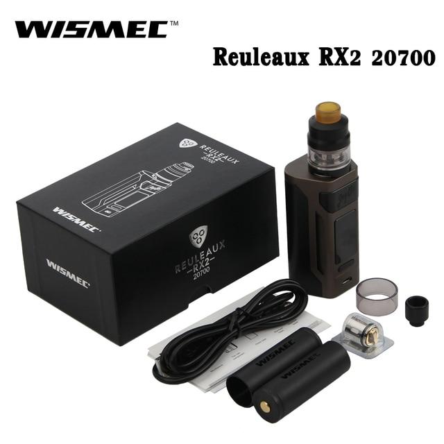 Оригинальная электронная сигарета wismec reuleaux RX2 20700 200 Вт RX2 20700 коробка MOD Vape с 2 мл/4 мл гном Комплект Fit WM02 WM03 катушки