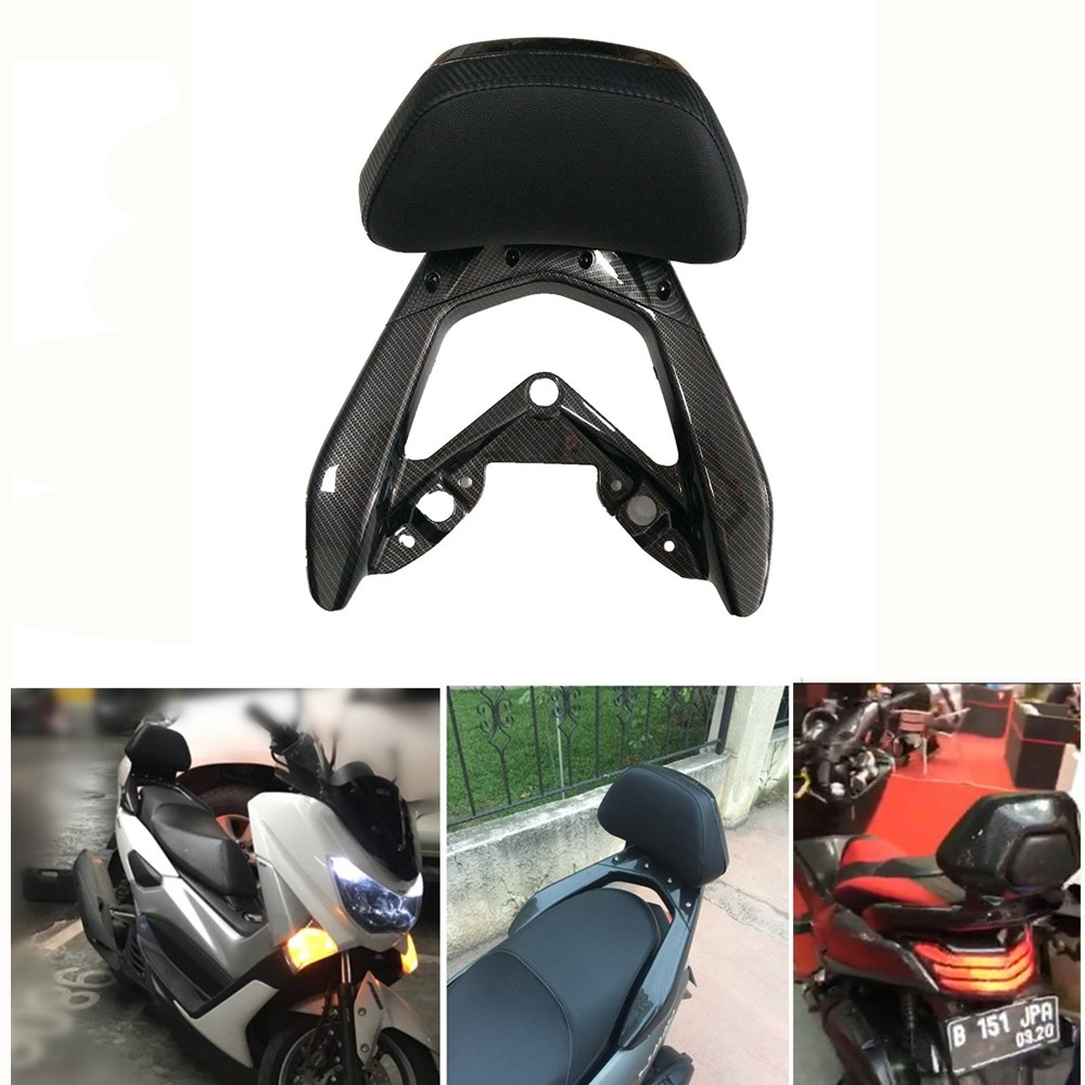 Modified motorcycle parts imitation carbon fiber ABS rear back rest trunk box bracket for YAMAHA NMAX 155 125 150 NMAX155 2016 yandex w205 amg style carbon fiber rear spoiler for benz w205 c200 c250 c300 c350 4door 2015 2016 2017