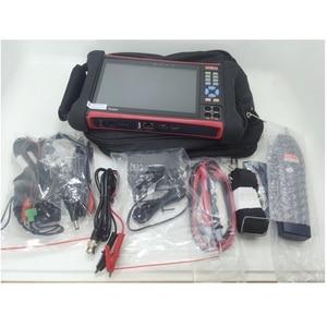 Image 5 - Wanglu H.265 4K 8MP Camera tester X7 TVI CVI AHD SDI CVBS IP Camera tester CCTV tester Monitor with TDR,Cable tracer,Multimeter