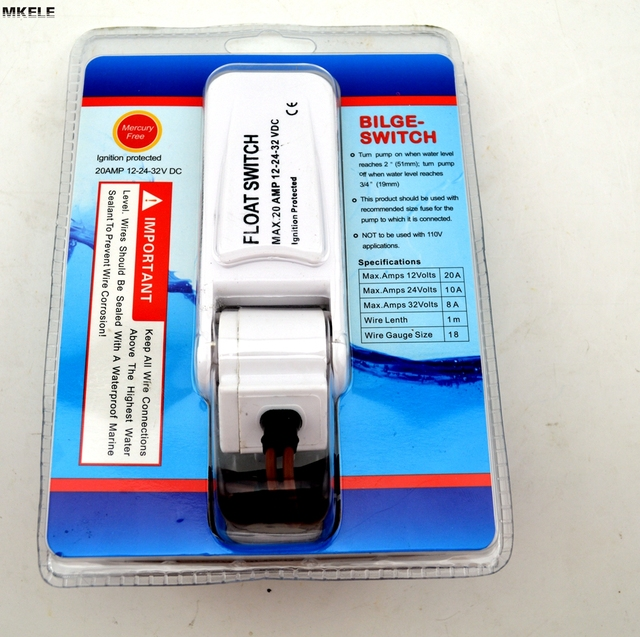 Automatic Electric water pump float switch DC float switch pump bilge pump switch water level controller MK-CFS12