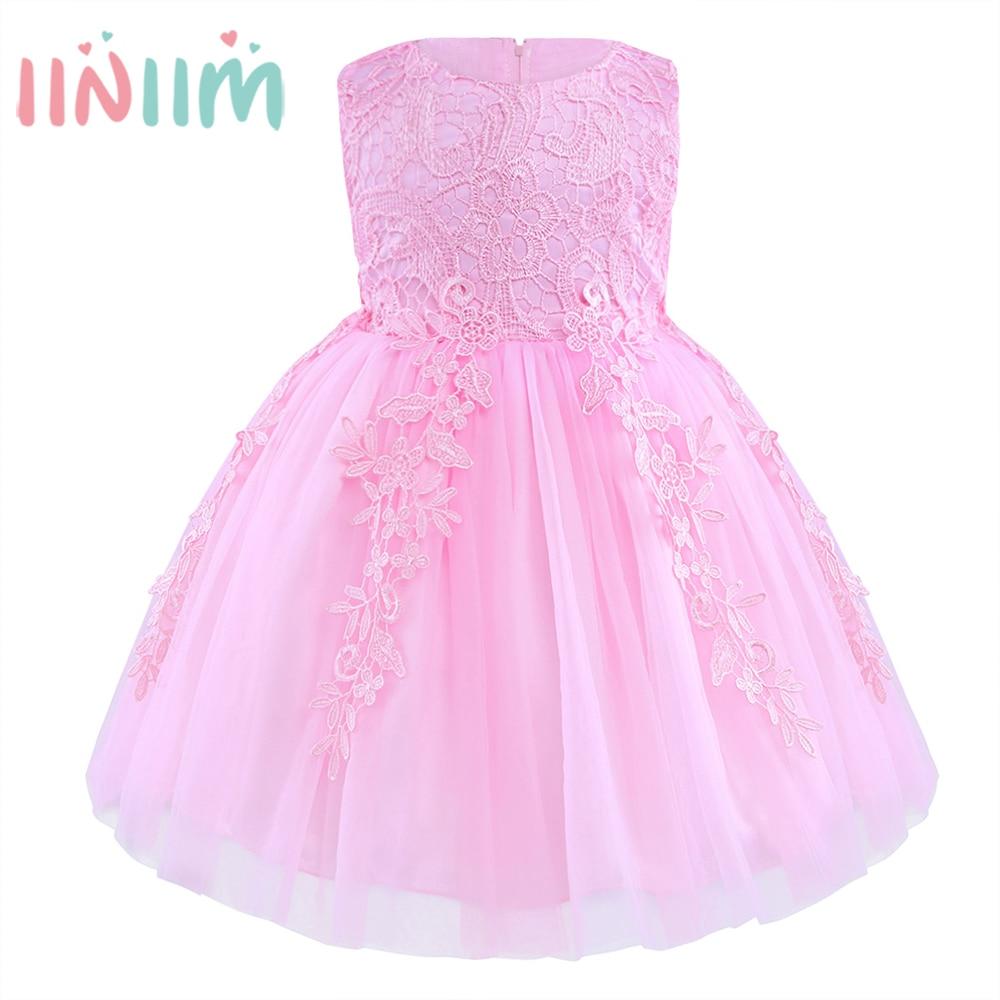 Las niñas de Color Rosa Princesa Cabritos Del Vestido de Fiesta 2017 ...