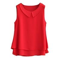 Fashion Brand Female Chiffon Shirts Women Summer Casual Top Plus Size S 4XL Loose Sleeveless Thin