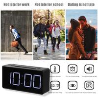 LED Digital Alarm Clock with USB Port Snooze Table Clock Electronic Clock Desk Alarm Clock USB Timer Calendar °C-℉ Thermometer