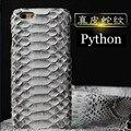 6 Cores Real Natural Pele Python Couro Genuíno de Volta Caso para iphone7 mais tampa do telefone para o iphone 7 plus 5.5 ''frete grátis