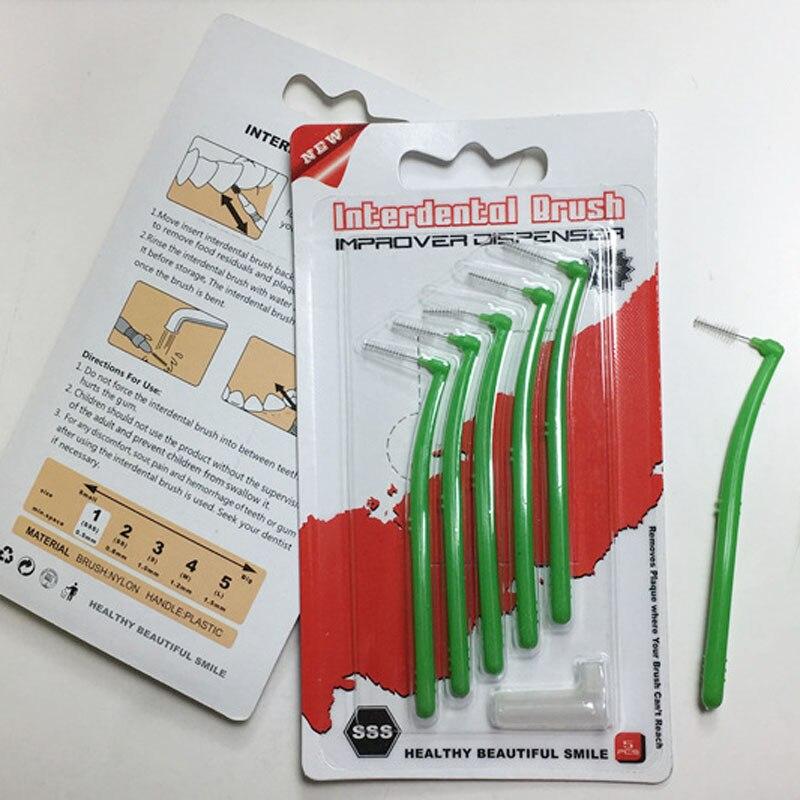5 unids/pack L formas adultos cepillo Interdental 0,5 MM higiene Oral limpiador Dental cepillos de cuidado MH88
