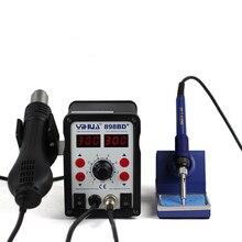 Hot sprzedaży! YIHUA 898BD + 2 w 1 Cyfrowy Wyświetlacz Rozlutownica Stacja na Gorące Powietrze, elektryczne Żelazko + Opalarka