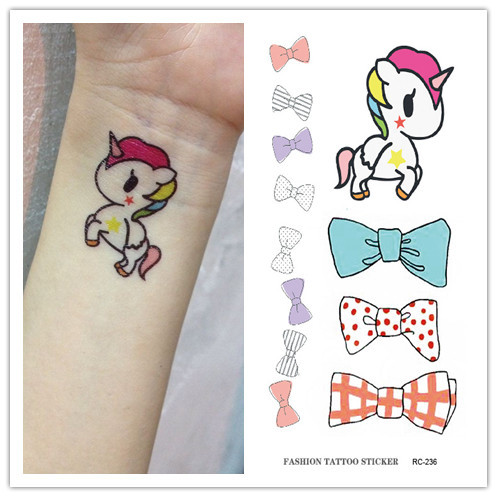 10 PCS Men Women Fake Tattoo sleeve Many cute animals Cat butterfly flower Body Art Flash Waterproof Temporary Tattoos Stickers 11