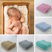 Wool 50x50cm Newborn baby blanket Fluffy Wool Newborn photography props Basket Filler Stuffer