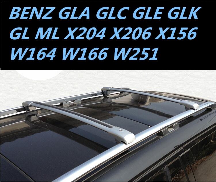 Car Aluminum Roof Rack Rail Baggage Luggage Cross Bar For Benz Gla Glc Gle Glk Gl