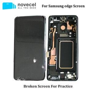 Image 1 - 5 יח\חבילה פגום LCD מסך עם מסגרת Assmebly עבור Samsung S6edge בתוספת s7edge S8 בתוספת זכוכית/מסגרת הפרדת Trainning