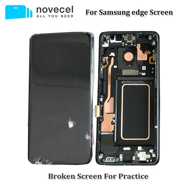 5 יח\חבילה פגום LCD מסך עם מסגרת Assmebly עבור Samsung S6edge בתוספת s7edge S8 בתוספת זכוכית/מסגרת הפרדת Trainning