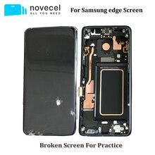 5 teile/los Defekte Lcd bildschirm mit Rahmen Assmebly für Samsung S6edge plus s7edge S8 plus Glas/Trennung Trainning