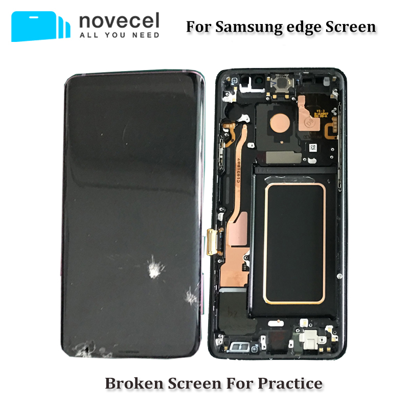 5pcs/lot Defective LCD Screen with Frame Assmebly for Samsung S6edge plus s7edge S8 plus Glass/Frame Separating Trainning image