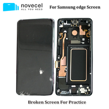 Pantalla LCD defectuosa con marco para Samsung S6edge plus s7edge S8 plus, cristal/marco separador de entrenamiento, 5 unidades/lote