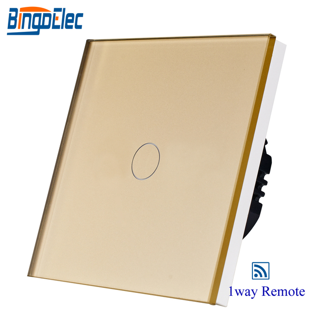 Interruptor de pared de control remoto de 433,92 MHZ 1gang1way para hogar inteligente