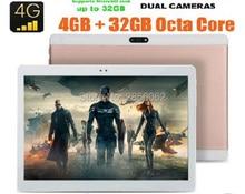 2017 New Design tablet 10 inch Octa Core 4GB RAM 64GB ROM 1920*1200 IPS 8.0M Dual SIM Cards GPS Tablet 10.1 4G FDD LTE Unlock