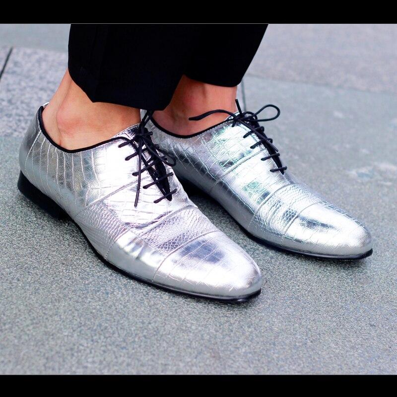 Señaló Encaje Cuero Planos Estilo As Oxfords Moda Zapatos Shown Hasta Color Los Plata Reales Hombres Europeo Ocasionales De Fiesta YFqwWXO
