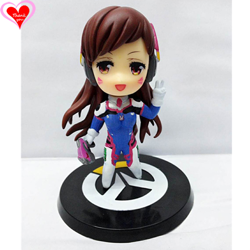 Love Thank You OW Over game watch  D.Va DVA nerf this cute figure toy Collectibles Model gift doll play to win new ow heroes dva hana song mecha d va pvc figure statue model gift toy collectibles model doll 480